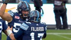 Fajardo's plunge sends Argos to Grey Cup