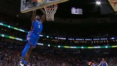 Must See: George bounces alley-oop to Grant