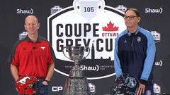 Dickenson, Trestman meet the media ahead of 105th Grey Cup