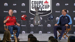 Must See: Dickenson, Trestman fend off age old 'sex' before Grey Cup question
