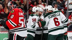 NHL: Wild 3, Blackhawks 2