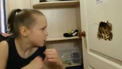 Must See: 9-year-old boxing prodigy punishes a door, tree