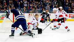 NHL: Senators 2, Blue Jackets 0