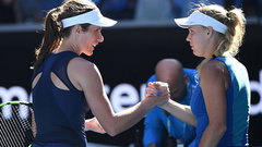 Konta beats Wozniacki to advance to fourth round