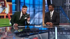 Kelce writes a check for his fine on NFL Countdown