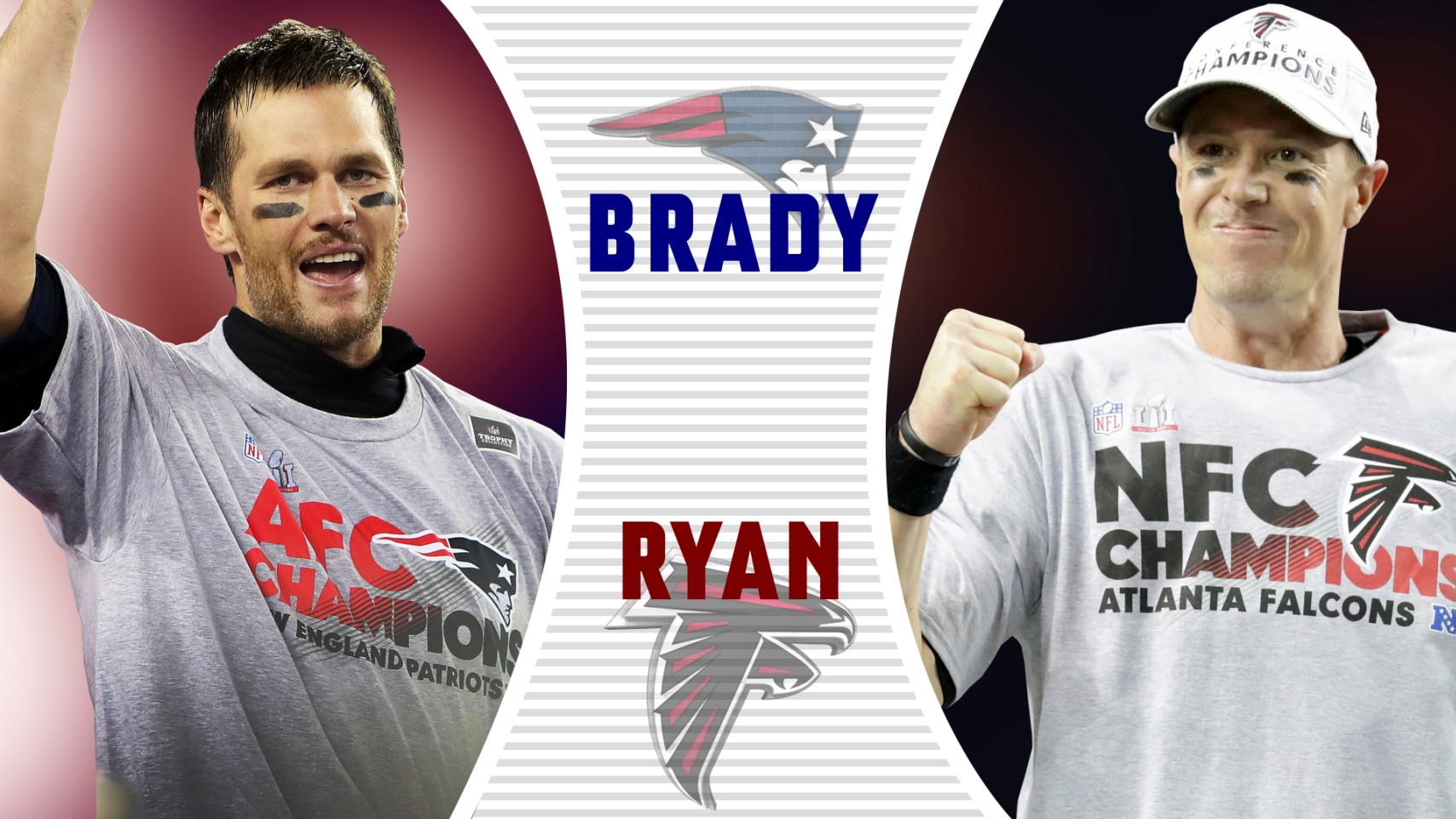 Image result for brady vs ryan who has the edge