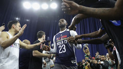 Reserved LeBron holds court at All-Star weekend