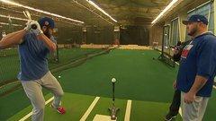 Arrieta shows off at batting practice