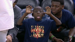 Must See: Young fan steals show during All-Star Weekend