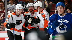 NHL: Flyers 3, Canucks 2
