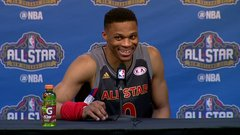 Must See: Westbrook has fun with reporters asking about Durant