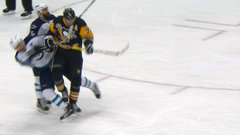 Malkin leaves his feet, catches Wheeler with hit to the head