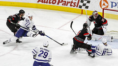 Must See: Matthews hauled down but still scores