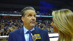Must See: Calipari walks out on halftime interview as Mizzou fans heckle him
