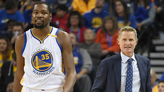 Kerr happy with Durant, Curry combo