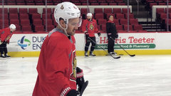 Stone and Hoffman back on the ice at Sens' practice