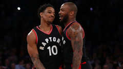 Tucker, Ibaka supplement DeRozan's heroics in New York