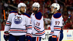 Who's in danger of being bumped from Oilers' top line?
