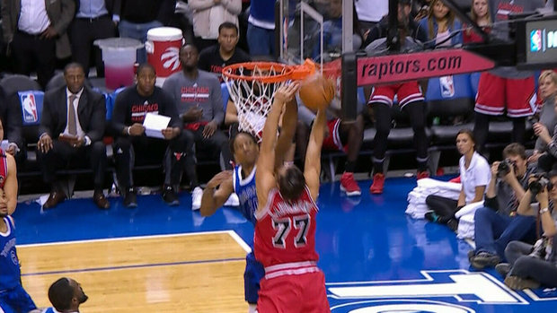 Must See: DeRozan comes up with massive block on Lauvergne