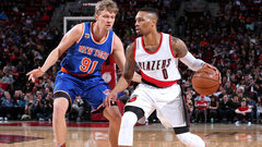 NBA: Knicks 95, Trail Blazers 110