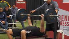 Must See: Laval's Roy wins bench press with 39 reps