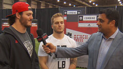 Stamps' Alex Singleton supporting brother Matt at CFL Combine