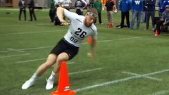 Hoover shines in shuttle drill and 3-cone drill