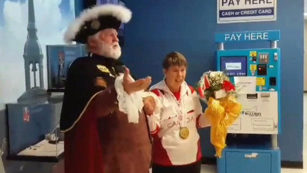 Special Olympians return to fanfare