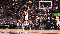 NBA: Cavaliers 74, Spurs 103