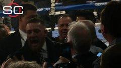 McGregor yells to Rafael, 'I am boxing!'