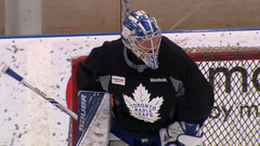Andersen participates in Leafs' practice, but departs after 20 minutes