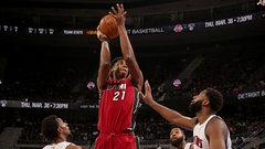 NBA: Heat 97, Pistons 96