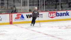 Karlsson practices in track suit ahead of game against Wild