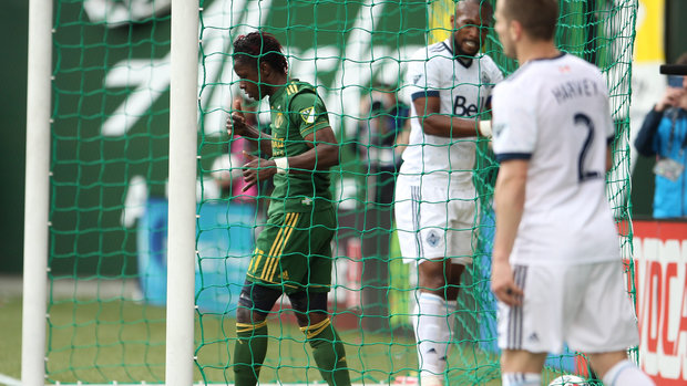 Whitecaps run into red-hot Timbers in road loss