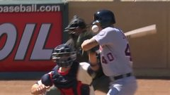 Jones gets hit by pitch in face, benches later clear