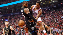 Lowry shrugs off back pain to help lift Raptors to series lead