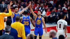 NBA: Warriors 128, Trail Blazers 103
