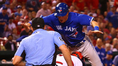 Arencibia on Coghlan dive: All athletes are entertainers