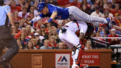 Coghlan breaks down dive to home plate