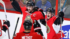 Karlsson plays hero for Senators again