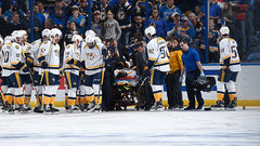 Predators' Fiala out for playoffs with broken femur
