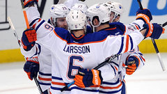 Larsson plays hero for Oilers in Game 1