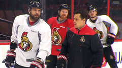 Senators use the off-day to hit the ice and 'refocus and reset'