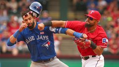 No love lost between Blue Jays, Rangers