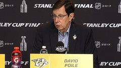 Poile says Subban's been terrific, but it's been a team effort to get to Cup