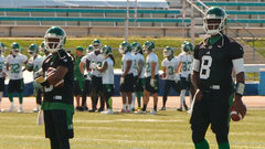 Young encouraged after first day of Riders' camp