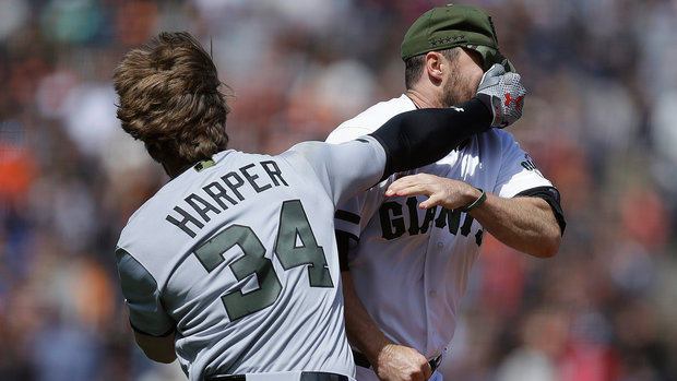 The Keg Must See: Harper, Strickland trade blows in all-out base-brawl