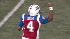 Durant throws first TD as an Alouette, Montreal opens the scoring