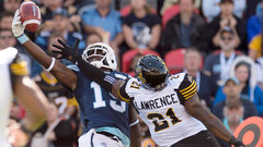 CFL: Tiger-Cats 15, Argonauts 32
