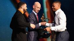 Westbrook accepts NBA MVP Award